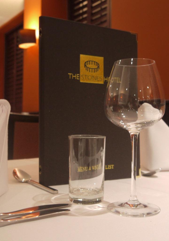 The Stones Hotel in Salisbury - menu and wine list